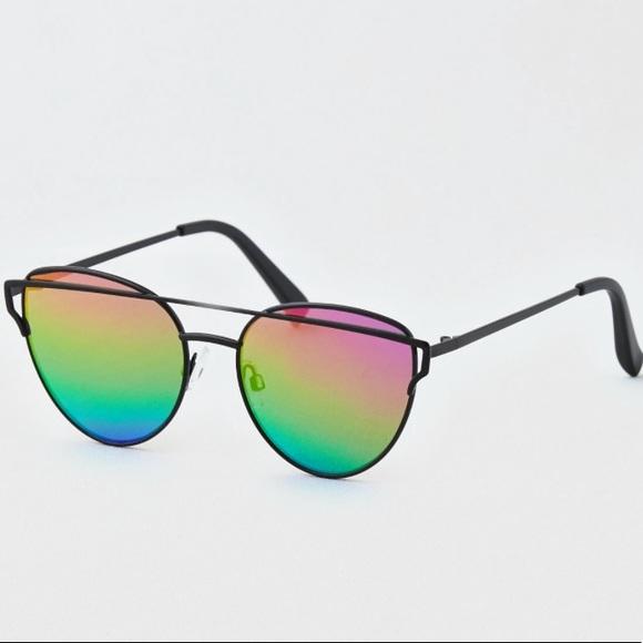 9d5cffab58 American Eagle Rainbow Winged Metal Sunglasses